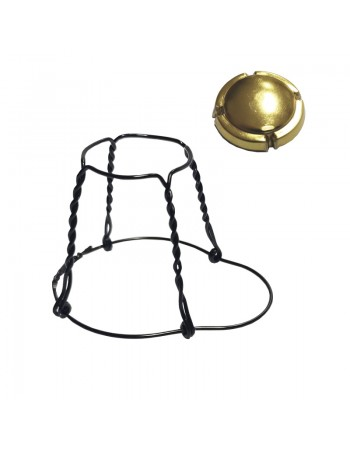 Black Muselet with Golden...